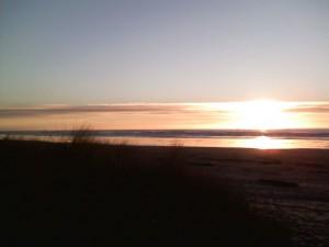 Peaceful photo of sunset