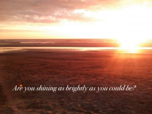 Photo of sunlight over ocean and quote