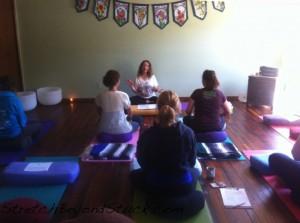 Photo of Rena teaching workshop June 2013